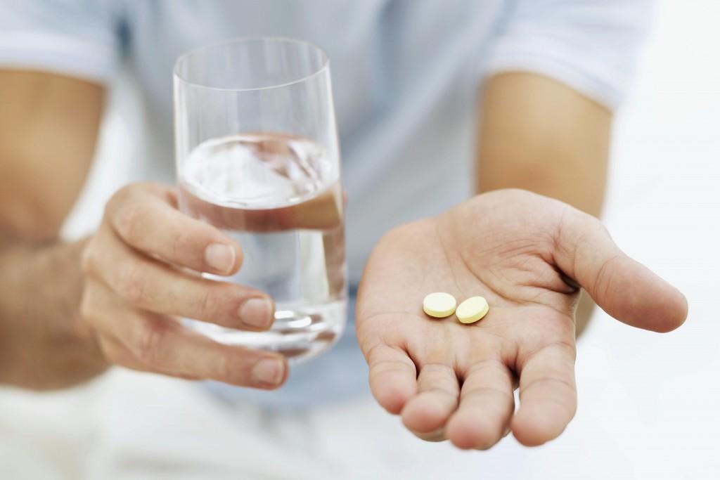 Man takes pills